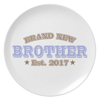 Brand New Brother Est. 2017 (Purple) Party Plates