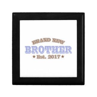 Brand New Brother Est. 2017 (Purple) Small Square Gift Box