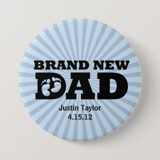 Brand New Dad Personalized Button
