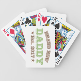 Brand New Daddy Est. 2017 (Green) Bicycle Playing Cards