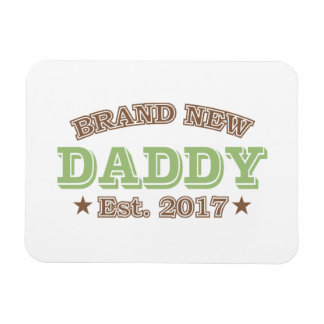 Brand New Daddy Est. 2017 (Green) Rectangular Photo Magnet
