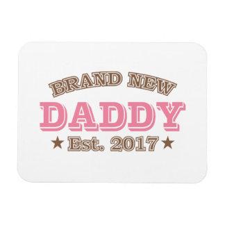 Brand New Daddy Est. 2017 (Pink) Rectangular Photo Magnet