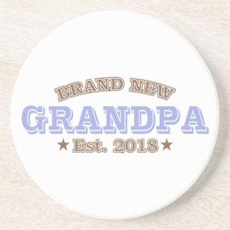 Brand New Grandpa Est. 2018 (Purple) Coaster