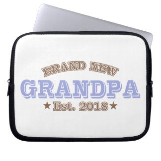 Brand New Grandpa Est. 2018 (Purple) Laptop Sleeve