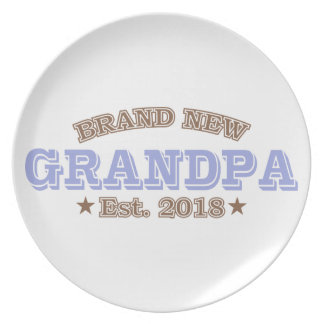 Brand New Grandpa Est. 2018 (Purple) Plate