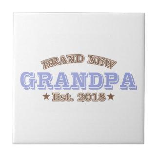 Brand New Grandpa Est. 2018 (Purple) Tile