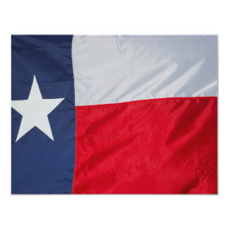 Brand New Texas Flag 11 Cm X 14 Cm Invitation Card