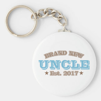 Brand New Uncle Est. 2017 (Blue) Key Ring