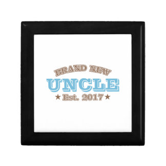 Brand New Uncle Est. 2017 (Blue) Small Square Gift Box