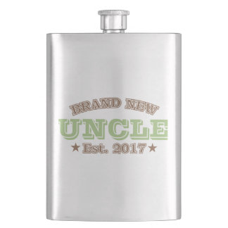 Brand New Uncle Est. 2017 (Green) Hip Flask