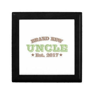 Brand New Uncle Est. 2017 (Green) Small Square Gift Box