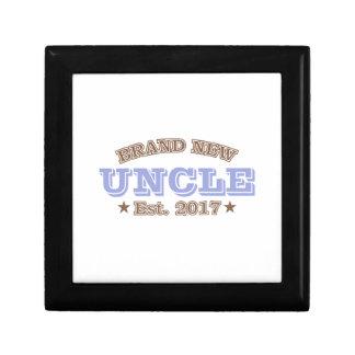 Brand New Uncle Est. 2017 (Purple) Small Square Gift Box