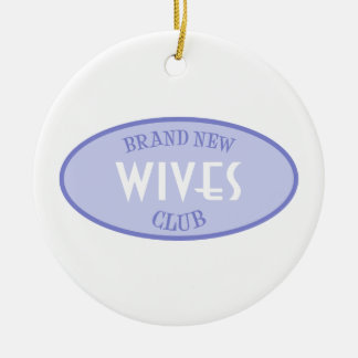 Brand New Wives Club (Purple) Round Ceramic Decoration