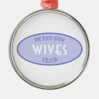 Brand New Wives Club (Purple) Silver-Colored Round Decoration