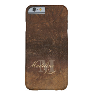 Branded Cowhide Faux Leather Barely There iPhone 6 Case