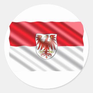Brandenburg Flag Classic Round Sticker