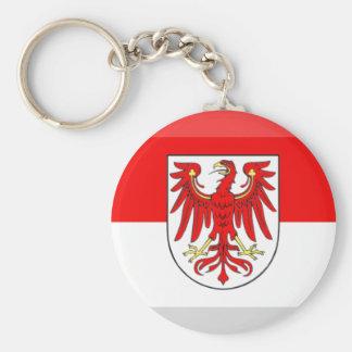 Brandenburg Flag Gem Basic Round Button Key Ring