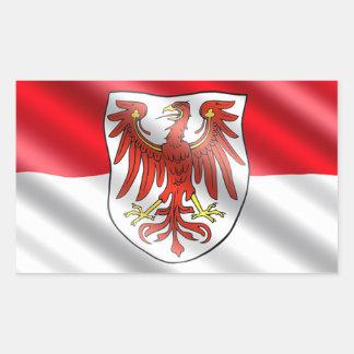 Brandenburg Flag Rectangular Sticker