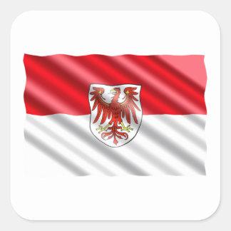 Brandenburg Flag Square Sticker