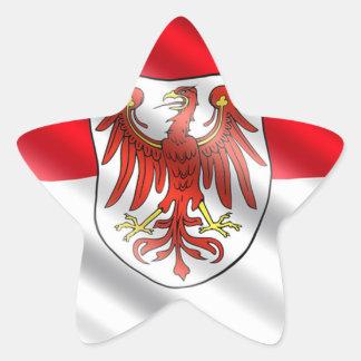Brandenburg Flag Star Sticker