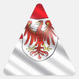 Brandenburg Flag Triangle Sticker