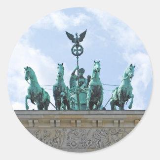 Brandenburg Gate - Brandenburger Tor Classic Round Sticker