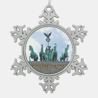 Brandenburg Gate - Brandenburger Tor Snowflake Pewter Christmas Ornament