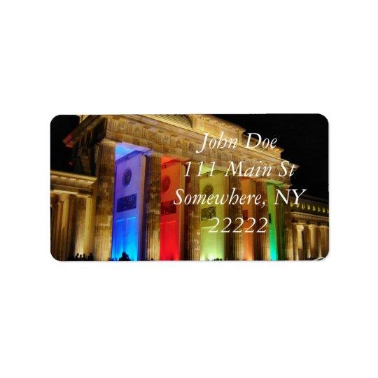 Brandenburg Gate Germany Address Label