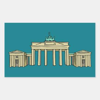 Brandenburg Gate in Berlin Rectangular Sticker