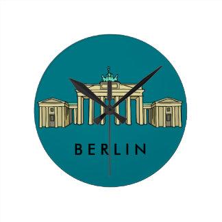 Brandenburg Gate in Berlin Round Clock