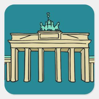 Brandenburg Gate in Berlin Square Sticker