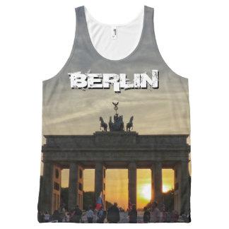 Brandenburg Gate, sunset, BERLIN All-Over Print Singlet
