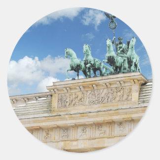 Brandenburg Tor in Berlin, Germany Classic Round Sticker