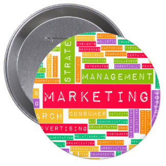 Branding and Marketing as a Business Concept 10 Cm Round Badge