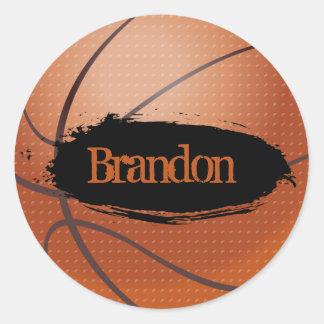 Brandon Grunge Style Basketball Sticker 1