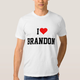 BRANDON: I LOVE BRANDON TEES