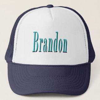 Brandon, Name Blue Logo, Trucker Hat