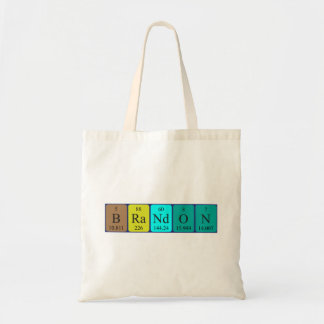 Brandon periodic table name tote bag