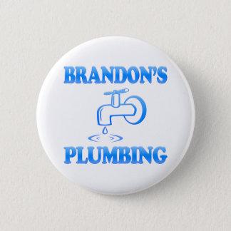 Brandon's Plumbing 6 Cm Round Badge