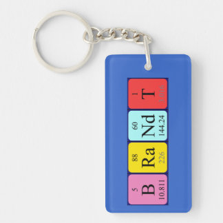 Brandt periodic table name keyring