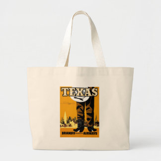 Braniff - Texas Poster Tote Bags