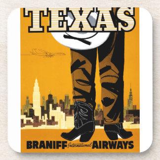 Braniff - Texas Poster Coaster