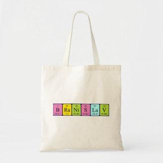 Branislav periodic table name tote bag