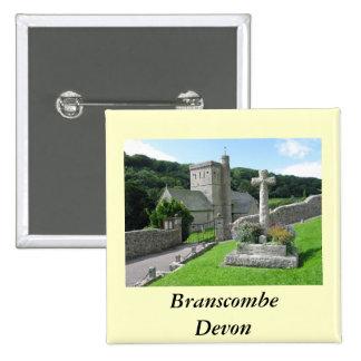 Branscombe Church 15 Cm Square Badge