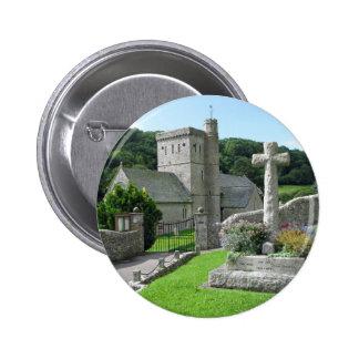 Branscombe Church 6 Cm Round Badge
