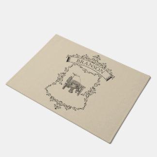 Branson - Antique Circular Sockknittingmachine Doormat