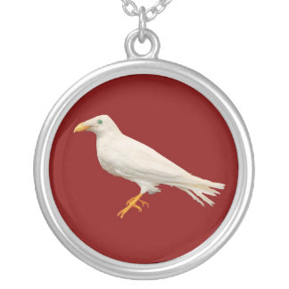 Branwen the White Raven Silver Plated Necklace