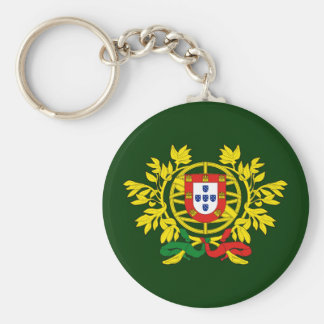 Brasão de armas de Portugal Key Chains