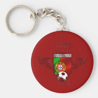 Brasão de Futebol Fás Portugueses Basic Round Button Key Ring