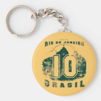 Brasil 10 basic round button key ring